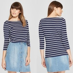LAST CHANCE! A New Day boat neck striped top XL